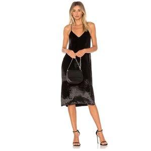 Equipment Nia Velvet Midi Slip Dress True Black